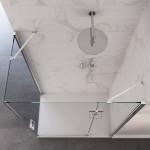 Box doccia angolare Carezza anta battente reversibile cristallo trasparente 8mm anticalcare