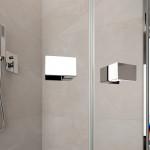 Box doccia semicircolare Maè doppia porta battente cristallo trasparente 8mm anticalcare