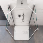 Box doccia tre lati Mis ante a saloon cristallo 6mm trasparente altezza 195cm