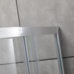 Box doccia tondo curvo semicircolare Piave-5 con doppia porta scorrevole cristallo trasparente 6mm anticalcare 195cm