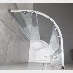 Box doccia tondo curvo semicircolare Piave-6 con doppia porta scorrevole cristallo trasparente 6mm anticalcare 190cm