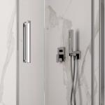 Box doccia angolare Resia altezza 200cm anta scorrevole cristallo trasparente 8mm anticalcare