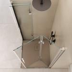 Box doccia angolare due lati Sorapiss altezza 190cm anta a libro e lato fisso in cristallo trasparente 6mm anticalcare