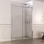Porta doccia Alleghe con anta scorrevole reversibile cristallo trasparente 8mm anticalcare