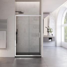 Porta doccia Ardo 195cm anta scorrevole cristallo trasparente 6mm anticalcare reversibile