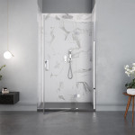 Porta doccia Carezza altezza 195 anta battente reversibile cristallo trasparente 8mm anticalcare