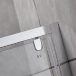 Porta doccia ampio ingresso Piave-10 saloon cristallo trasparente 6mm anticalcare 190cm