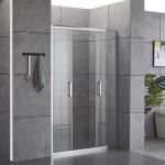 Porta doccia Piave-3 con doppia anta scorrevole cristallo trasparente 6mm anticalcare 190cm