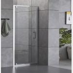 Porta doccia battente Piave-8 cristallo trasparente 6mm anticalcare 190cm