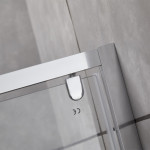Porta doccia poco ingombro Piave-9 saloon cristallo trasparente 6mm anticalcare 195cm