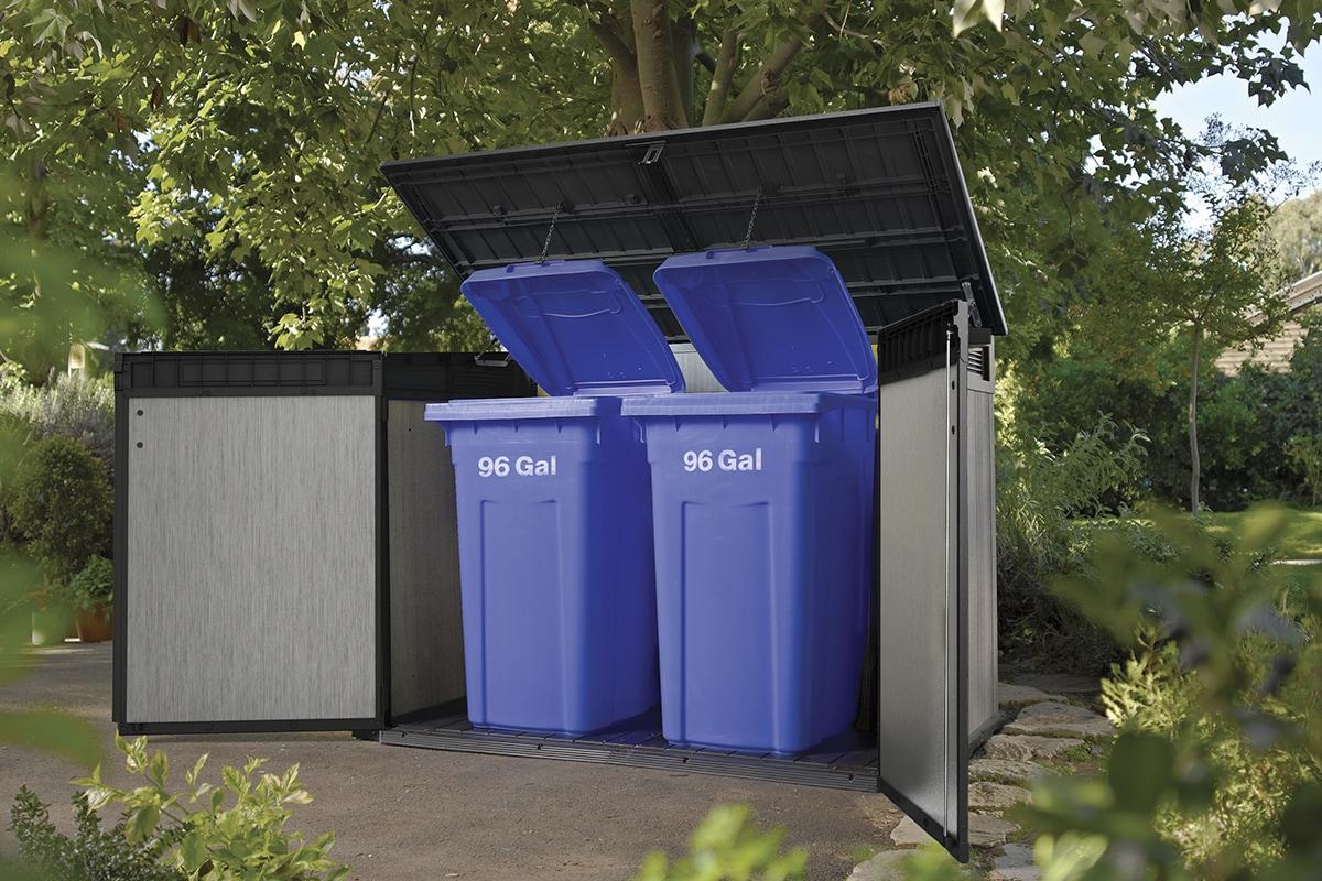 Box Per Bidoni Spazzatura mobili contenitori per la raccolta differenziata