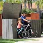 Baule porta biciclette porta bidoni in polietilene 191x107x132h