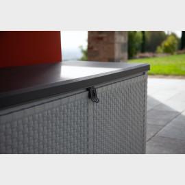 Baule da esterno in resina effetto Rattan cm 120X48X57