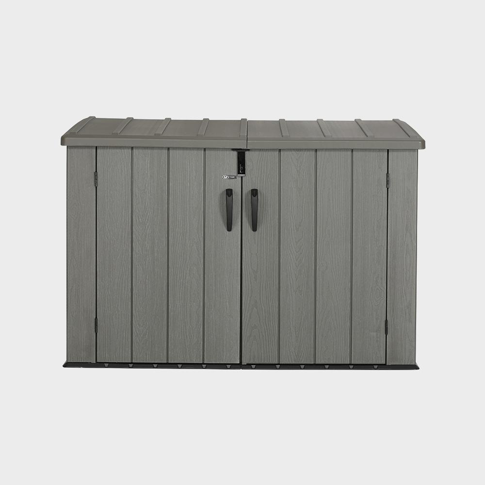 Box Per Bidoni Spazzatura baule porta biciclette porta bidoni in polietilene 191x107x132h