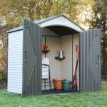 Casetta da giardino Lifetime in polietilene 60057 Torino 1 204x132x227h cm