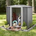 Box casetta da giardino in metallo Selmont medium 253,4x181x 177,5 cm Shelterlogic