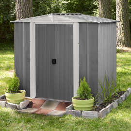 Box casetta da giardino in metallo Selmont medium 253,4x181x 177,5 cm Shelterlogic