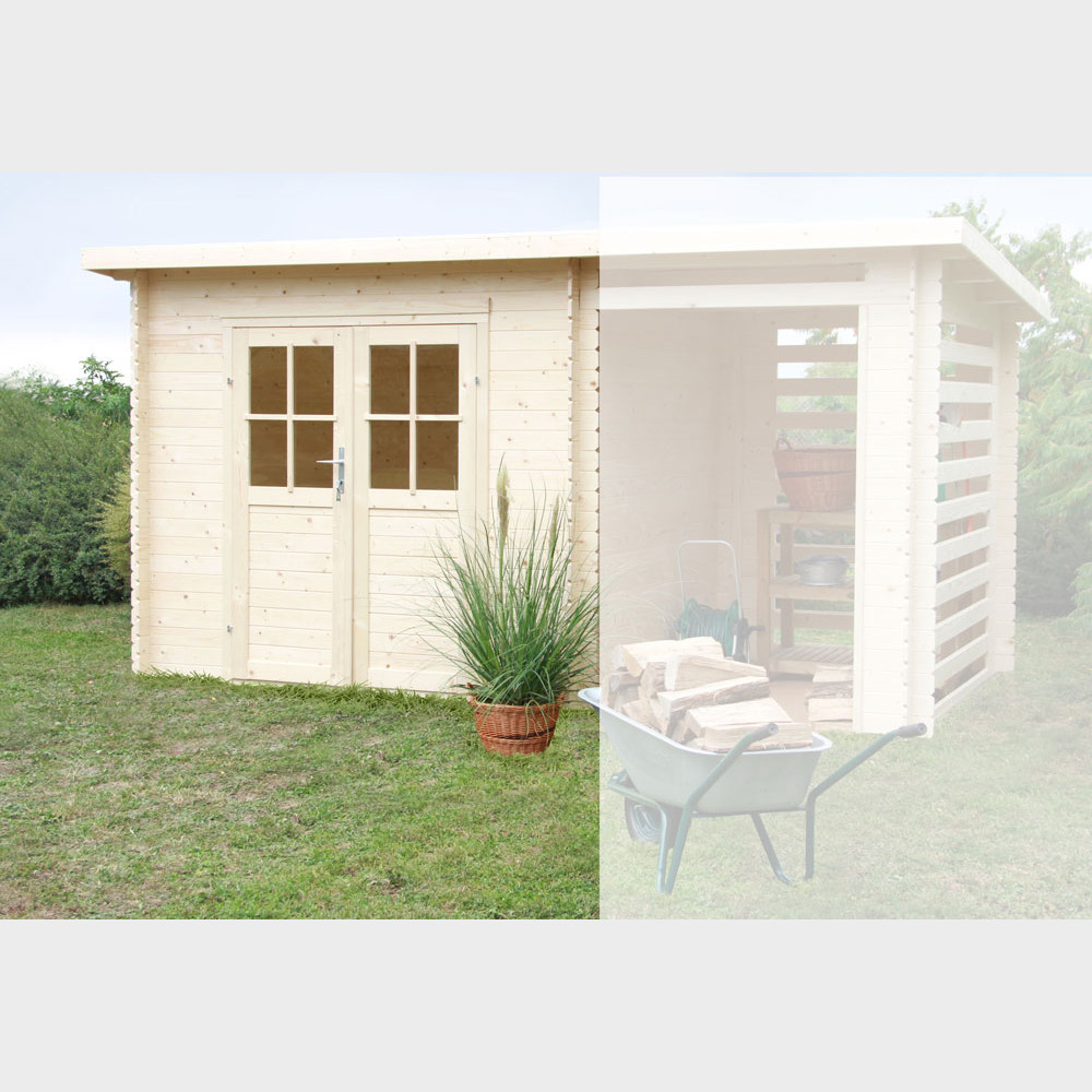 Casetta da giardino in legno Erika cm 248x218x213h
