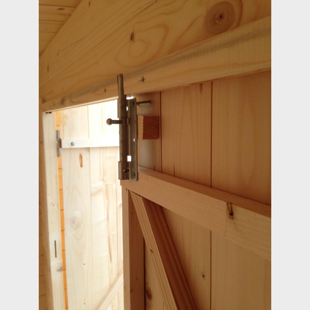 Armadio legnaia da giardino in legno grezzo kerti 198x88 for Armadio legno grezzo