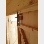 Armadio legnaia da giardino in legno grezzo Kerti 198x88