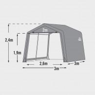 Capannone casetta in telo per giardino 3030 - 300x300x240cm