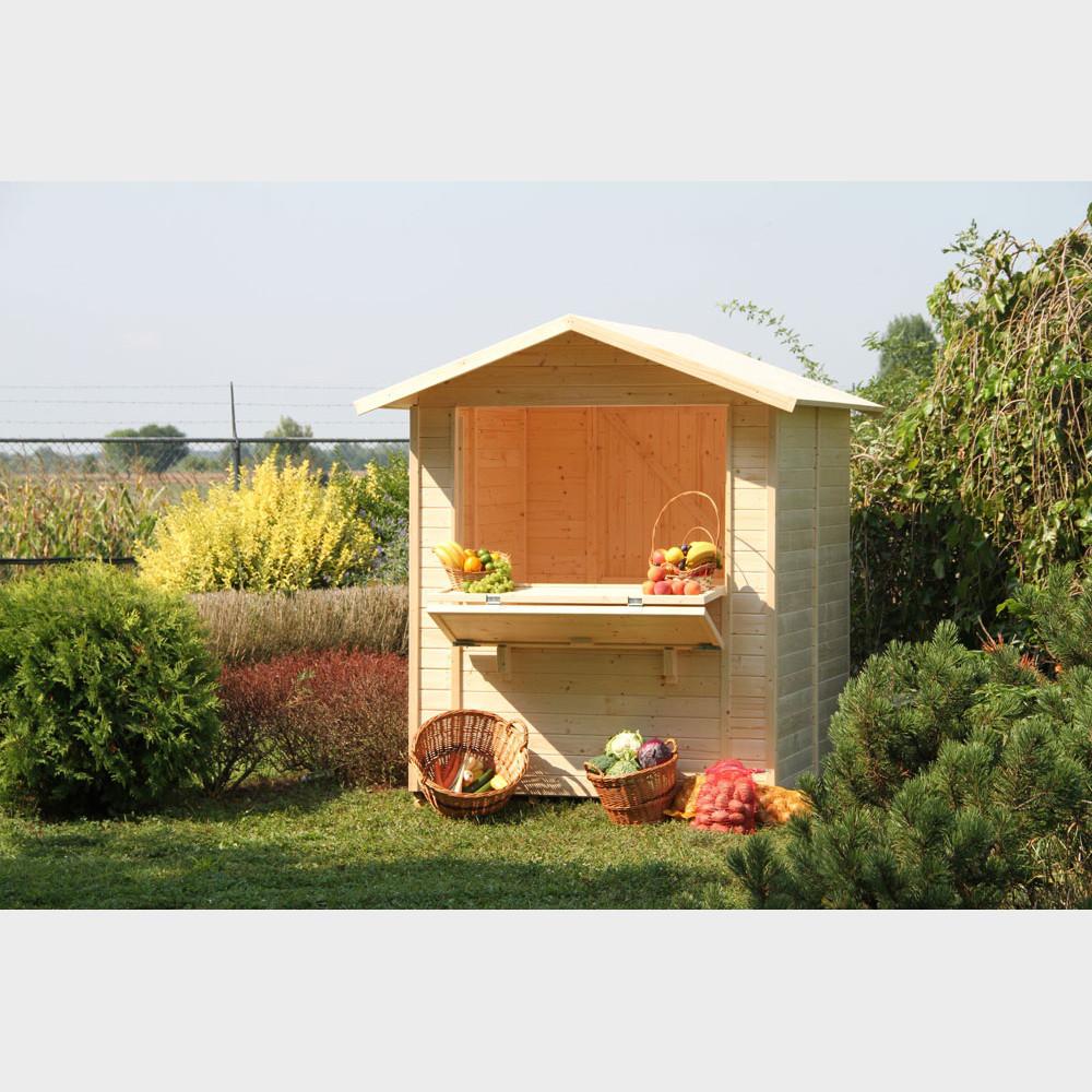 Casetta Chiosco in legno da esterno 170x175x218h cm Gartenpro
