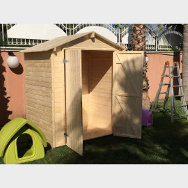 Casetta in legno da giardino Narciso cm 170x120x218h