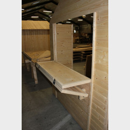 Casetta Chiosco in legno da esterno 300x200x235h cm Gartenpro