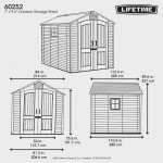 Casetta da giardino Lifetime in polietilene Torino3 206x280x227h