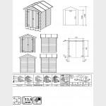 Casetta in legno da giardino Silvia cm 170x180x218h