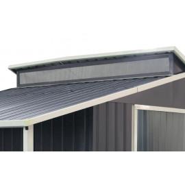 Casetta in metallo con porticato Grey2 cm 293x129x229h