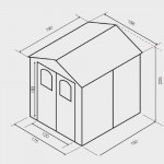 Casetta da giardino in resina Alessia1 cm. 188X190X225h