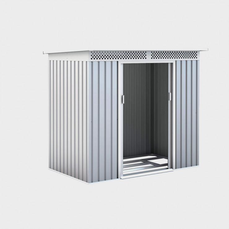 Casetta box da esterno in metallo Silver cm 277x206x187