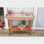 Banco da lavoro in legno per giardinaggio cm 108x52x92h