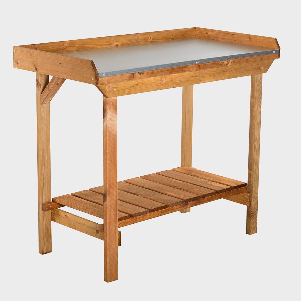 Banco da lavoro in legno per lavori di giardinaggio cm 108x52x92h