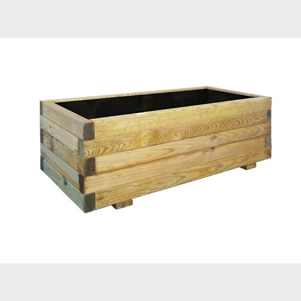 Fioriera in legno Tulipano cm 120x40x32,5 h