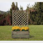 Fioriera in legno con griglia Margherita cm 80x40x135h