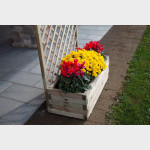 """Fioriera in legno con grigliato """"Orchidea"""" cm. 90x44x180h"""
