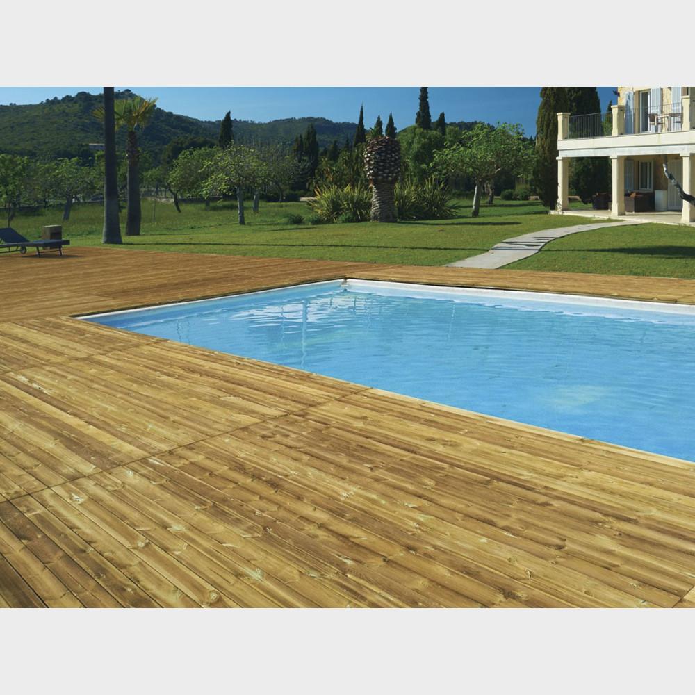 Pavimentazione per esterno in legno altezza cm. 6,6