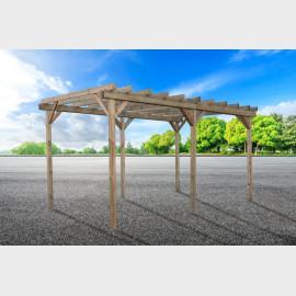 Copertura posti auto cm 300X500 - Carport in legno coperto