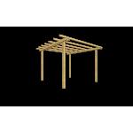 Pergola in legno di pino massello autoportante 240x300