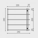 Pergola addossata in legno 240X240