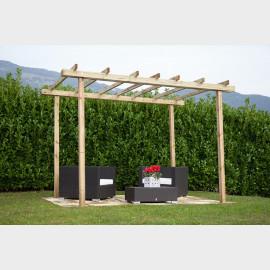Pergola in legno di pino massello 240X240