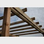 Pergola in legno di pino massello autoportante 300x400