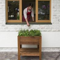 Cassone fioriera orto a scomparti in legno Apple Small 80x80xh88cm