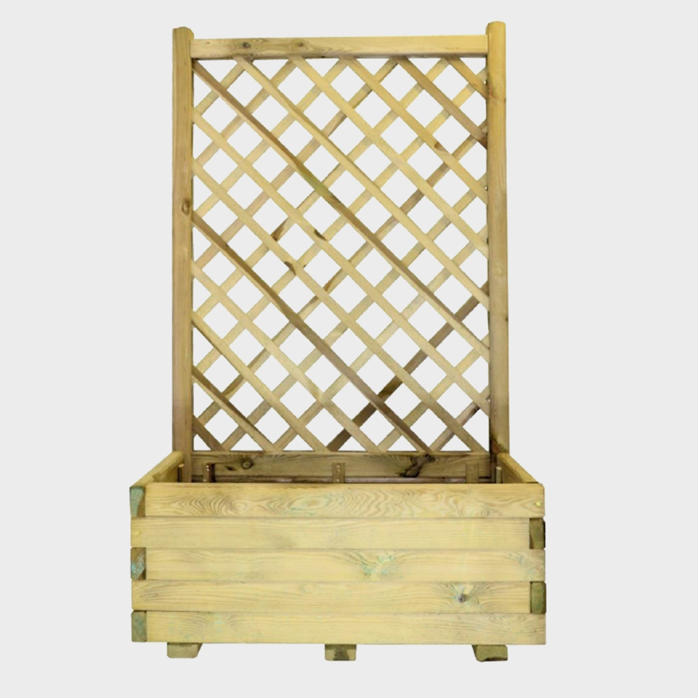 Fioriera con griglia in legno 80x40X135h cm