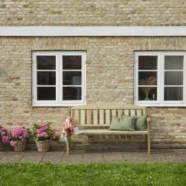 Panchina da giardino in legno tre posti cm 175x63x97h Delia
