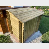 Armadio in legno per accessori piscina 120x189cm.