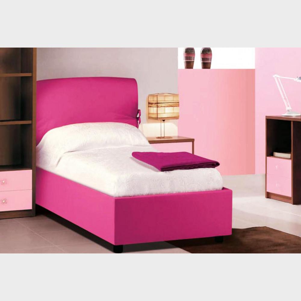 Testiera letto singolo con box contenitore 88x206x100h Capri