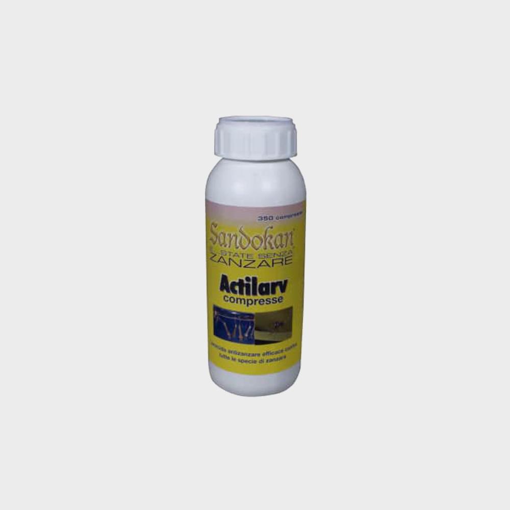 Larvicida antizanzare Actilarv Sandokan 350 compresse effervescenti da 1 g cadauna